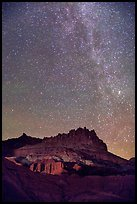 Castle by night. Capitol Reef National Park, Utah, USA. (color)