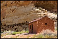 Behunin Cabin. Capitol Reef National Park, Utah, USA. (color)
