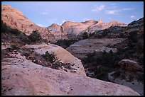 Fremont River Canyon at dusk. Capitol Reef National Park, Utah, USA. (color)