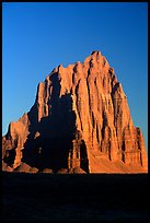 Temple of the Sun, Cathedral Valley, sunrise,. Capitol Reef National Park, Utah, USA.