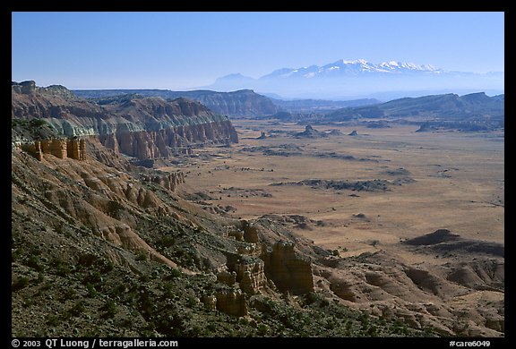 Upper Desert overlook, Cathedral Valley, mid-day. Capitol Reef National Park (color)