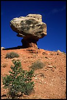 Balanced Rock in  Hartnet Draw. Capitol Reef National Park, Utah, USA.