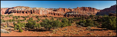 Mummy cliffs. Capitol Reef National Park (Panoramic color)
