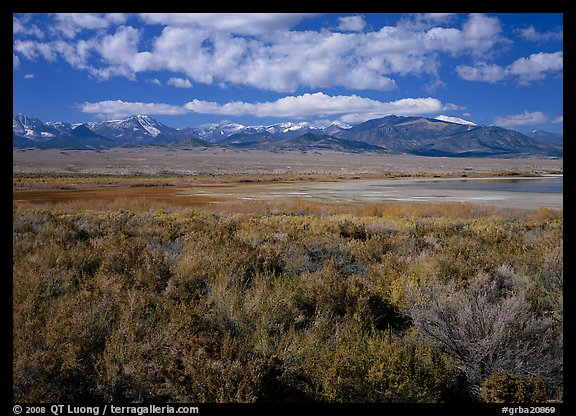 Snake Range raises above Sagebrush plain, seen from the East. Great Basin National Park (color)