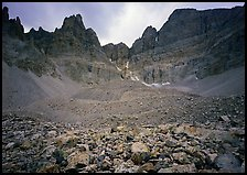 Moraine and North Face of Wheeler Peak. Great Basin National Park, Nevada, USA. (color)