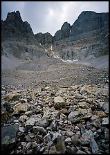 Wheeler Peak Glacier, the lowest in latitude in the US. Great Basin National Park, Nevada, USA. (color)