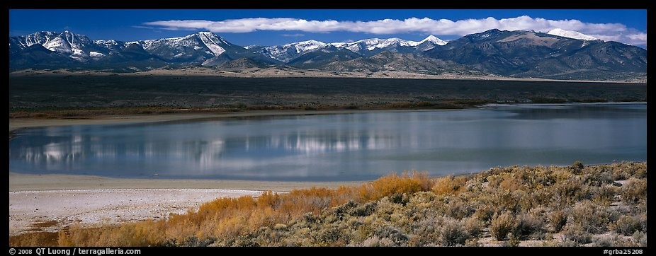 Pond and Snake range. Great Basin National Park (color)