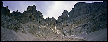Mineral landscape, North Face of Wheeler Peak. Great Basin National Park (Panoramic color)