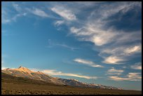 Wispy clouds over Snake Range. Great Basin National Park, Nevada, USA. (color)