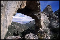 Lexington Arch, afternoon. Great Basin National Park, Nevada, USA. (color)