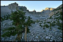 Rock bound cirque of Wheeler Peak, sunrise. Great Basin National Park ( color)