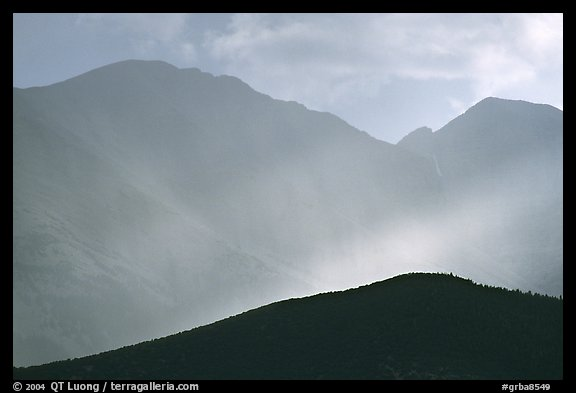 Rays over Snake Range. Great Basin National Park (color)