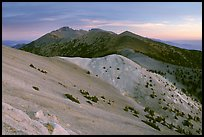 Wheeler Peak and Snake range seen from Mt Washington, dusk. Great Basin National Park, Nevada, USA.