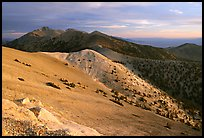 Wheeler Peak and Snake range seen from Mt Washington, sunrise. Great Basin National Park ( color)