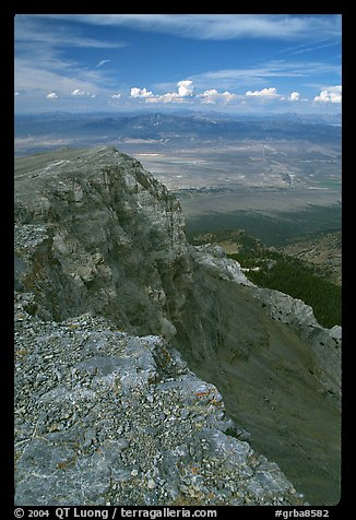 Cliffs beneath Mt Washington and Spring Valley, morning. Great Basin National Park (color)