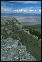 Cliffs beneath Mt Washington and Spring Valley, morning. Great Basin National Park, Nevada, USA. (color)