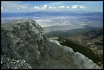Cliffs below Mt Washington overlooking Spring Valley, morning. Great Basin National Park ( color)