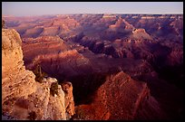 View from Yvapai Point, sunrise. Grand Canyon National Park, Arizona, USA. (color)