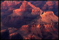 Temples at Dawn from Yvapai Point. Grand Canyon National Park, Arizona, USA. (color)