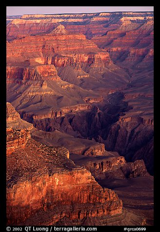 Temples at Dawn from Yvapai Point. Grand Canyon National Park (color)