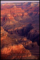 Temples at Dawn from Yvapai Point. Grand Canyon National Park ( color)