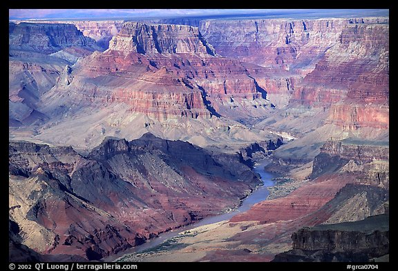 Colorado River from  South Rim. Grand Canyon National Park (color)