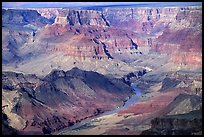 Colorado River from  South Rim. Grand Canyon National Park ( color)