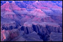 Granite Gorge, dusk. Grand Canyon National Park, Arizona, USA.