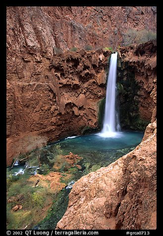 Mooney Falls. Grand Canyon National Park (color)