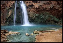 Travertine Terraces, Havasu Falls, Havasu Canyon. Grand Canyon National Park, Arizona, USA. (color)