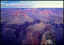 Granite Gorge seen from  South Rim, twilight. Grand Canyon National Park, Arizona, USA.