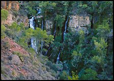 Thunder river lower waterfall, afternoon. Grand Canyon National Park, Arizona, USA.