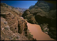 Colorado River at Granite Gorge Narrows. Grand Canyon National Park ( color)