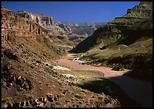 Colorado River at  bottom of  Grand Canyon. Grand Canyon National Park ( color)