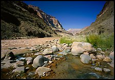 Confluence of Tapeats Creek and  Colorado River. Grand Canyon National Park, Arizona, USA.
