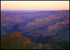 View from Point Sublime, sunset. Grand Canyon National Park, Arizona, USA. (color)