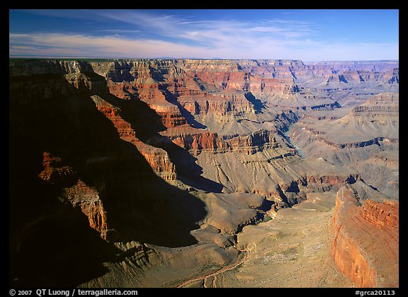 Canyon View from South Rim. Grand Canyon  National Park (color)