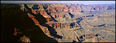 Canyon cliffs from South Rim. Grand Canyon National Park (Panoramic color)