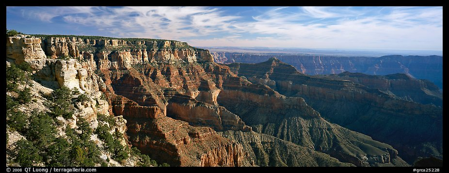 Canyon scenery from Cape Royal. Grand Canyon National Park (color)