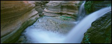 Deer Creek cascading into gorge. Grand Canyon National Park (Panoramic color)