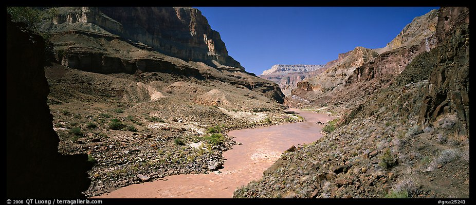 Muddy waters of Colorado River. Grand Canyon National Park (color)