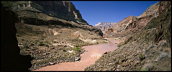 Muddy waters of Colorado River. Grand Canyon National Park (Panoramic color)