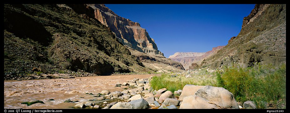 Inner Canyon landscape. Grand Canyon National Park (color)
