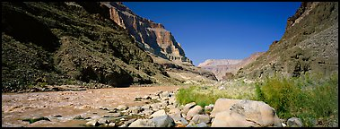 Inner Canyon landscape. Grand Canyon National Park (Panoramic color)