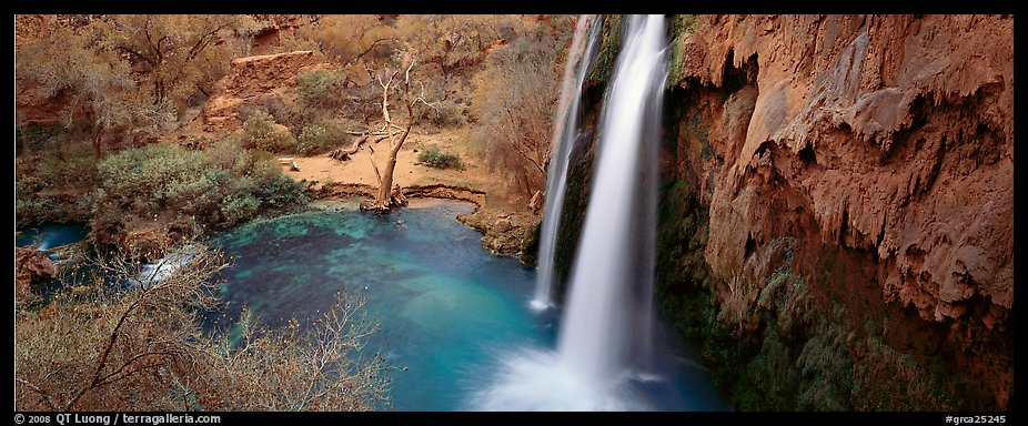 Havasu Fall and turquoise pool. Grand Canyon National Park (color)