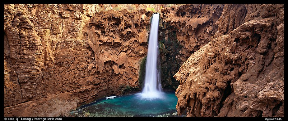 Mooney Fall and turquoise pool. Grand Canyon National Park (color)