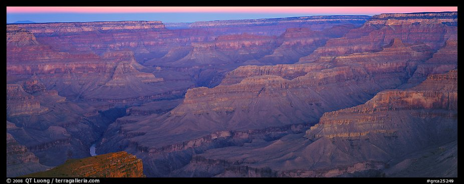 Canyon ridges at dawn. Grand Canyon National Park (color)