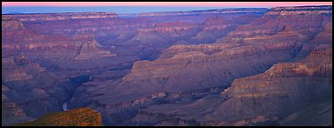 Canyon ridges at dawn. Grand Canyon National Park (Panoramic color)