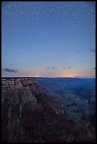 View from Moran Point at night. Grand Canyon National Park, Arizona, USA. (color)