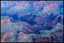 Colorado river gorge and buttes at dawn. Grand Canyon National Park ( color)